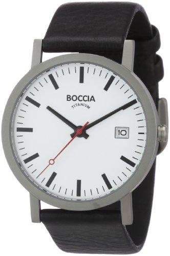 Boccia Herrenuhr Analog Quarz mit Lederarmband – 3538-01 Boccia Uhren