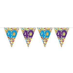 Folat Nuevo Banderolas Birthday Blocks 40, 6m, 1Stk.