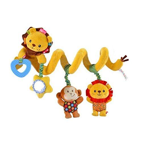 TOYMYTOY Juguetes Colgantes Espiral de Animal para Cuna Cochecito Carrito Bebés Niños Juguetes Educativos (León)