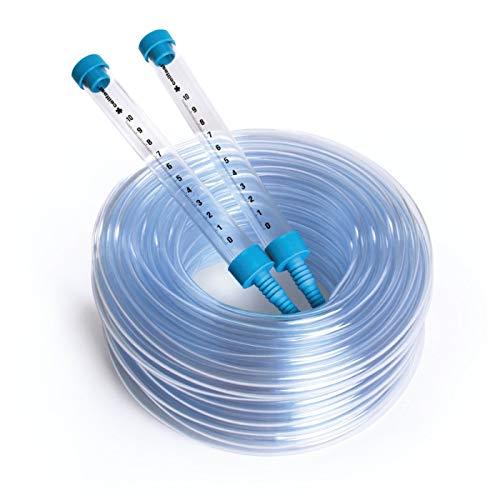 Cellfast Schlauchwasserwaage aus hochwertigem Kunststoff es hat bruchsichere Trichter mit Millimeter-Skala, erleichtert die Nivellierung der Punkte, 22-101