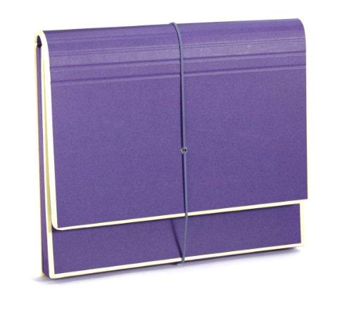 Semikolon (351990) Akkordeon mit Gummiverschluss plum (lila) | Sammelmappe/Fächer-Mappe für A4 und US Letter Size | Format: 32,0 x 27,5 cm