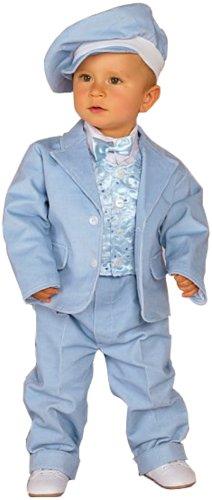 Taufanzug Kinderanzug Feinkord in blau, Größe 80/86