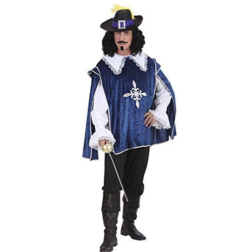 u Ritterkostüm Renaissance S 48 Musketiere Hemd und Überwurf Musketier Kostüm Karnevalskostüme Herren Mittelalter Larp Umhang Königlicher Ritter Mittelalterkostüm (3 Musketiere Kostüme Erwachsene)