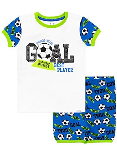 Harry Bear Jungen Fußball Schlafanzug Kurz Blau 116