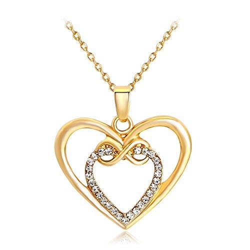 JMZDAW Halskette Anhänger Women's Crystal Heart Halskette Schmuck Die Kleidung Von Frauen Urlaub Valentinstag Und Veranstaltungsräume Geschenk (Valentinstag-kleidung Für Frauen)