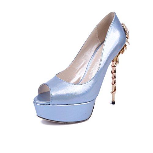 Minitoo , Semelle compensée femme Bleu - bleu