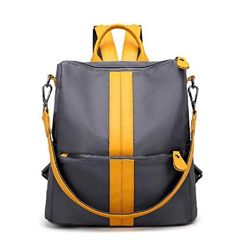 YDYDYD Neue Mode-Segel, Bronx, Oxford-Textiltasche mit einer Schulter, zwei Schultern, eine Handtasche. Grau mit Gelb -