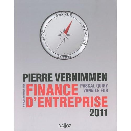 Finance d'entreprise : 2011