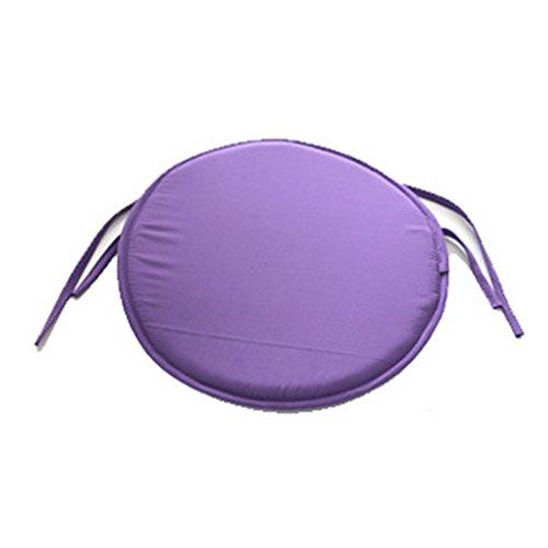 Esszimmerstuhl-Kissen, abnehmbar, Schaumstoff-Kissen, zum Anbinden von Sitzkissen für Gartenstuhl, 38 cm, Violett 38 38cm violett