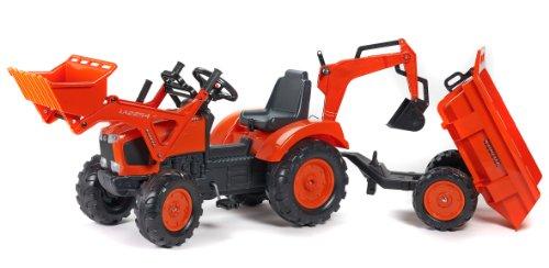 AK Sport 0709312 - Kubota Traktor Set Deluxe 3/7, Traktoren Anhänger - Kubota