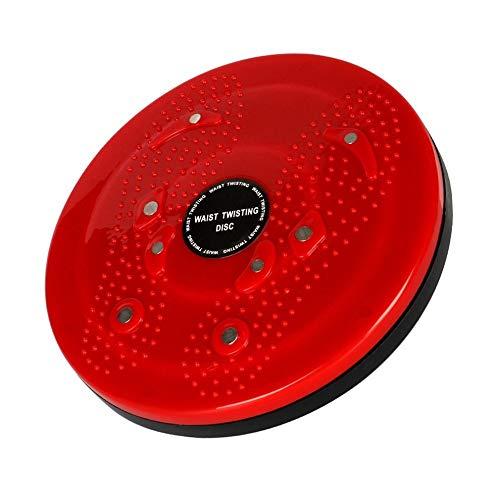 Swivel Board (CCHM Fußscheibenmassagegerät Multifunktionale magnetische dünne Bodybuilding Taille Magnet Balance Swivel Board,Red)