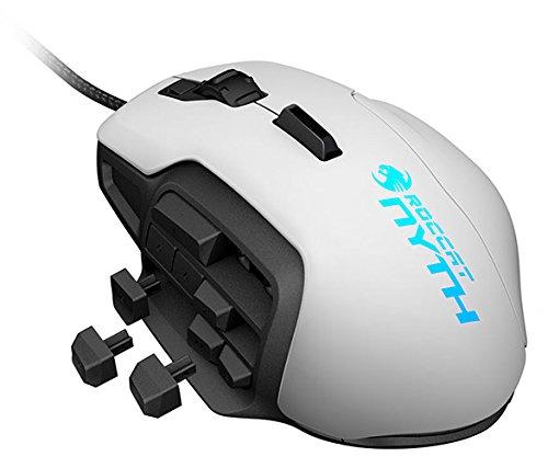 MMO Gaming Laser-Maus (12000 dpi, austauschbare Daumentasten & Seitenteile) weiß ()