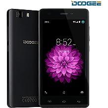 Moviles Libres Baratos, DOOGEE X5 Smartphone Libre sin Bloqueo de SIM Baratos (5 Pantalla HD IPS, MT6580 Quad Core, 5MP Cámara, 8GB ROM, Android 6.0, Bluetooth 4.0, 3G Dual SIM Móvil) - Negro