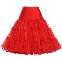Leisial Enagua Miriñaques Falda de Hilo de Longitud Media Vestido de Novia de Tocar Fondo Tutu Falda para Mujeres