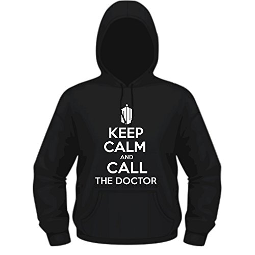 Creepyshirt - KEEP CALM AND CALL THE DOCTOR - DOCTOR WHO INSPIRED HOODIE - M