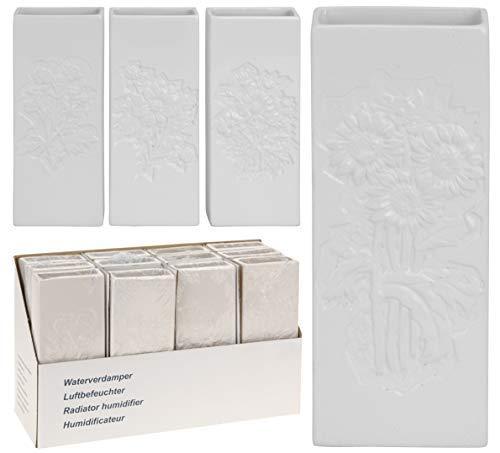 DRULINE 4 x Luftbefeuchter Keramik Rechteckig 20 cm x 8,0 cm x 305 cm 280 ml Volumen