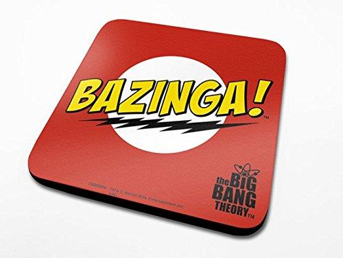 Pyramid International The Big Bang Theory Bazinga Rouge Officielle Dessous-de-Verre Housse de Protection en mélamine avec Base en liège, Multicolore, 10 x 10 cm