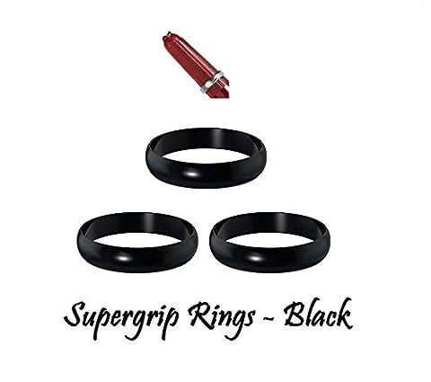 5Sets Harrows Supergrip Dart Stiel Ersatz Greifer Ringe–5Farben erhältlich, schwarz