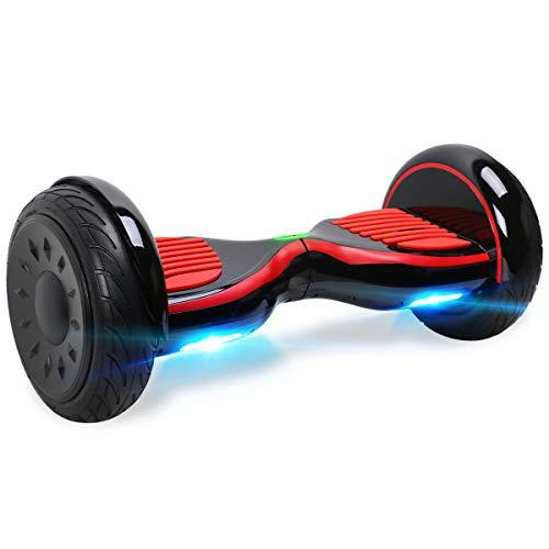 """BEBK Hoverboard 10\"""" Smart Self Balancing Scooter Elettrico, Oveboard con Bluetooth/LED Leggero, Certificazione UL 2272,2 * 350W Motore, E-Balance"""