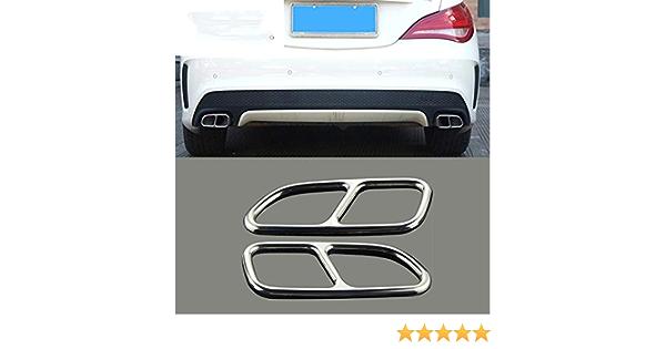 Car Styling Automobili Coda Gola Decor Cornice Tubo di Scarico Trim Trim Adesivi Accessori Auto TAYDMEO Per Mercedes Benz CLA C117 2013-2016