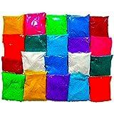 Avanti Creation et of 20 Different Color Rangoli Colors Powder Set 50 GMS in Each Packet -1 KG Rangoli Color Powder