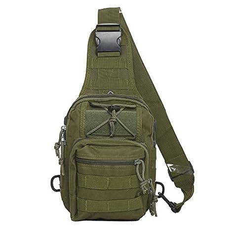Tactical Sling Bag Cross-Body-Brust Rucksack Militär Schulter Pack EDC MOLLE-Fliegen