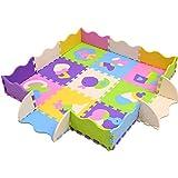 XMTMMD Baby Puzzle matte Play Bereich Weich ineinandergreifende SCHAUMSTOFF Spielmatte Set Schutz Bodenbelag Fliesen für Kinder AMP013B3010