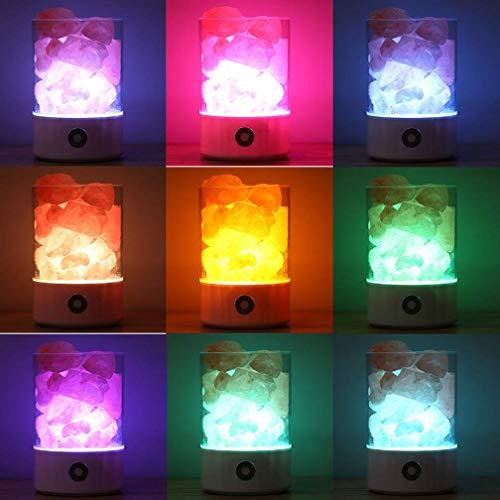 wishing Himalaya Salzlampe,Salzkristall Lampe mit Touch-Dimmer Himalaya  Salzkristall Lampe Effektiver Luftreiniger mit dimmbarem Berührungsschalter  ...
