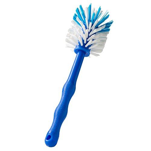 Wundermix Mixtopf-Spülbürste Thermomix, robuste Reinigungs-Bürste Thermomix, Spülbürste zum Aufhängen mit schonenden Nylon-Borsten, Blau