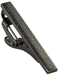 Outline Spot Brushed Gunmetal Tie Clip