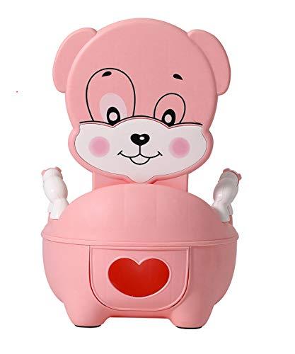 Glenmore Vasino Bambini Vasetto WC Bambina Vater Bimbi Morbido Imbottito Rosa