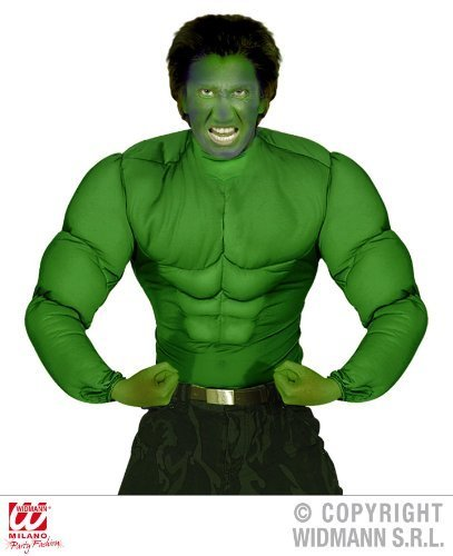 KOSTÜM - MUSKEL SHIRT - XL (Kostüm Herren Hulk)
