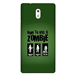 CrazyInk Premium 3D Back Cover for Nokia 3 - How to Kill Zombie