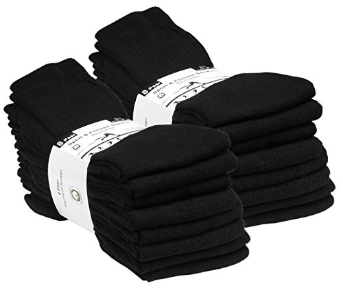 8, 16 oder 24 Paar Freizeit und Sportsocken, Tennissocken in 5 verschiedenen Farben, von VCA
