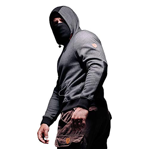 "PG Wear \""Warrior\"" Mask-Hoodie grey (XXXL)"