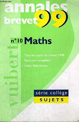 Annales 1999, mathématiques brevet sujets seuls, numéro 10