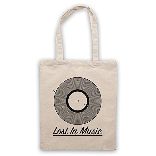 Lost In Music Vinyl Record Groove Maze Umhangetaschen Naturlich