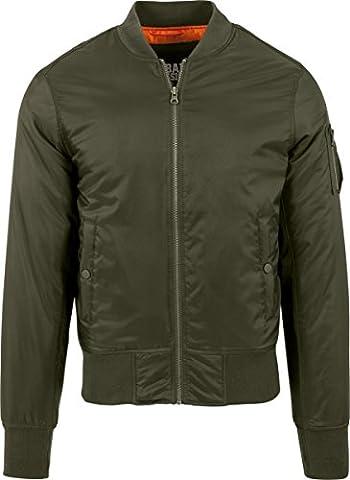 Urban Classics Basic Bomber Jacket, Blouson Homme, Vert-Grün (Darkolive 551), XX-Large
