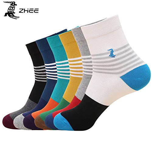 JSGJWWZZ Men's Socks Socks Autumn and Winter Combed Cotton Japan and South Korea 200 Needles Individually Wrapped Sweat-Absorbent and Not Stinky Feet in The Tube Business Men's ()