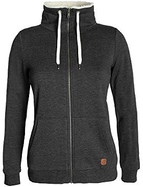 DESIRES Derby Pile Zip Damen Sweatjacke Kapuzen-Jacke Zip-Hood Stehkragen aus hochwertiger Baumwollmischung mit...
