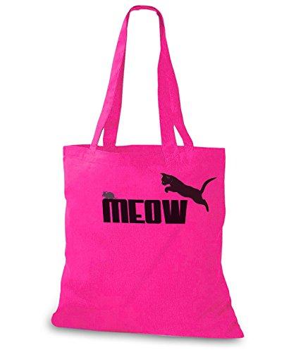 StyloBags Jutebeutel / Tasche MEOW - Miau Pink