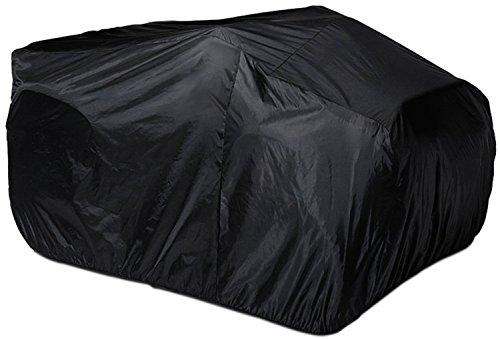 HOGAR AMO XXL Quad ATV Abdeckung 210D Polyster Fahrzeug Abdeckplane UV-Schutz Wetterfest Schutz Cover Wasserdicht Garage 256 x 110 x 120cm Schwarz