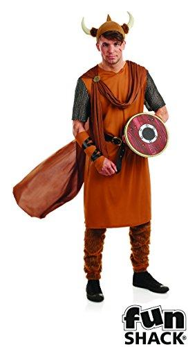 Erwachsene Spaß Shack Wikinger Krieger Kostüm Kleidung Größe Männer 52-54 ()