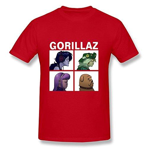 gorillaz-t-shirt-manches-courtes-homme-xl0rougexl0rougemulticolore
