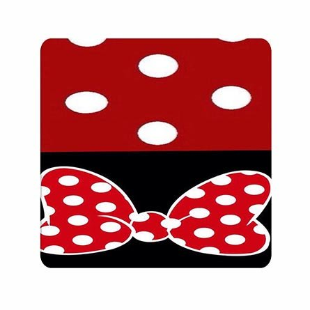 Clear Pattern Game Partner Mousepad Polka Dot Bow Designed Chic For Friends (Polka Dot Bow Pattern)