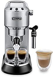 De'Longhi Dedica Style Pump Espresso Machine, Silver - EC