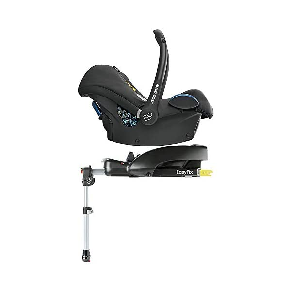 Maxi-Cosi CabrioFix Baby Car Seat Group 0+, ISOFIX, 0-12 Months, 0-13 kg, Frequency Black with Easyfix Car Seat Base, ISOFIX or Belted Installation for CabrioFix, 0-12 m, 0-13 kg Maxi-Cosi Optimal side impact protection: maxi-cost's side protection system technology features in the wings of the car seat to reduce the risk of injury in a side impact collision Click-and-go installation: quick and easy installation with any maxi-cosi base unit Used in combination with the Maxi-Cosi CabrioFix infant car seat 5