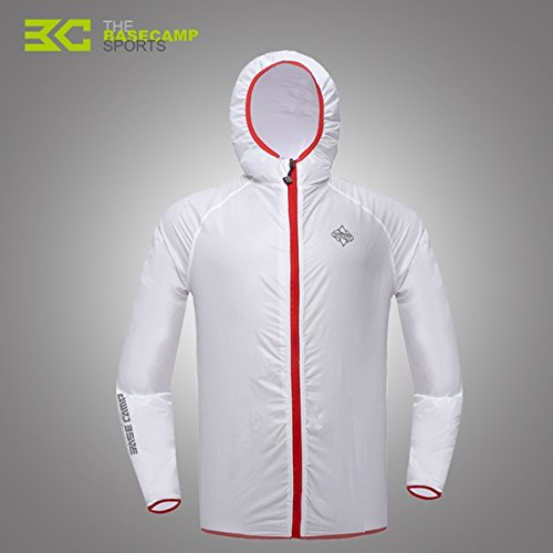 MaMaison007 Piel al aire libre ropa protector solar ropa transpirable cortaviento chaqueta - blanco-XL
