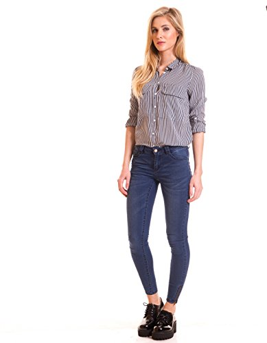 Skinny blue jeans by Vila Clothes Blue