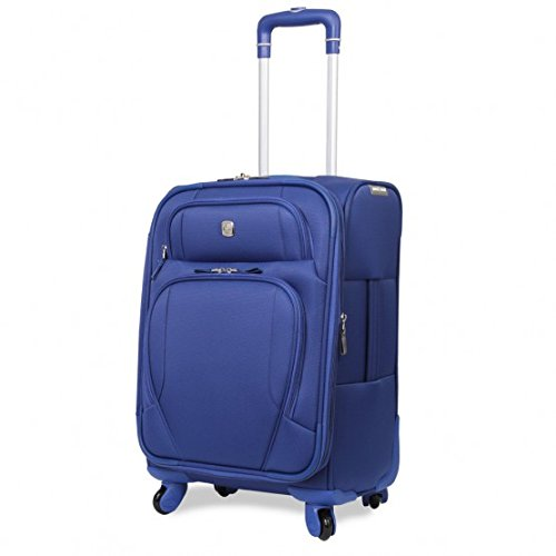Wenger SwissGear LUGANO 4-Rollen Kabinen-Koffer-Trolley, 50 cm, BL (blau) (Koffer Kabine)